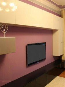 Мебельная стенка в гостиную матовая