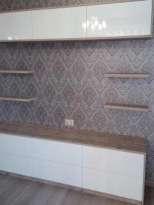 Мебель для гостиной - стенка с антресолями