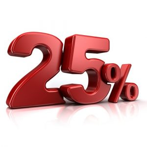 Скидка 25% на шкафы-купе